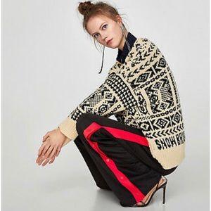 Bloggers Fave! Zara Tear Away Stripe Pants Size XL